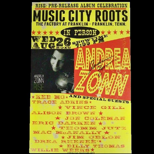 Andrea Zonn AUTOGRAPHED Poster